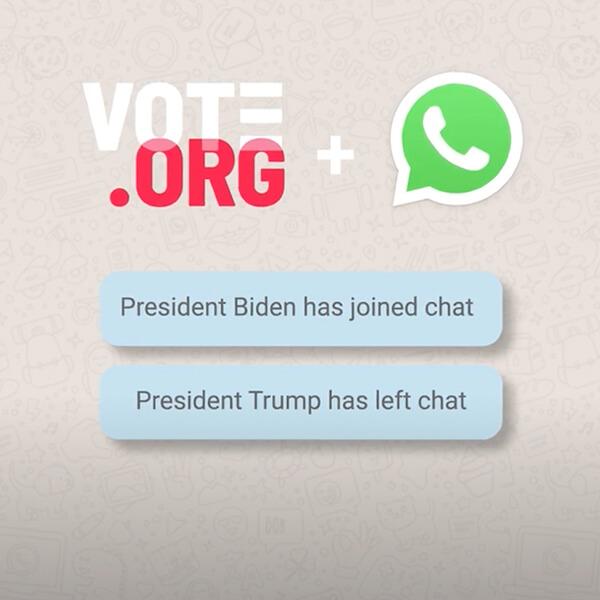 WhatsApp + Vote.org